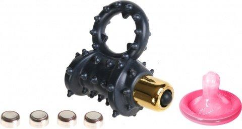 Эрекционное кольцо стимулирующее клитор Vibrating Cockring (3 скорости), фото 2