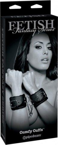 Наручники cumfy cuffs с мехом черные, фото 5