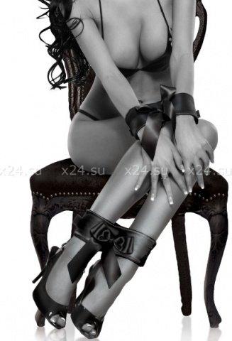 Фиксаторы на руки и ноги с атласными бантами Bowtie Cuffs, фото 3