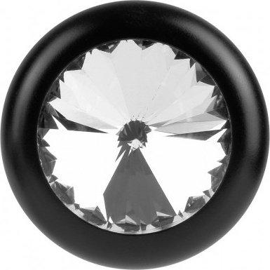 Черная металлическая пробка с кристаллом Luv Plug, фото 4