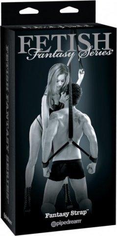 Фиксатор Fantasy Strap с наручниками и креплением для потолка черный, фото 5
