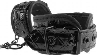 Прочные лакированные фиксаторы для рук с цепью Couture Cuffs, фото 3