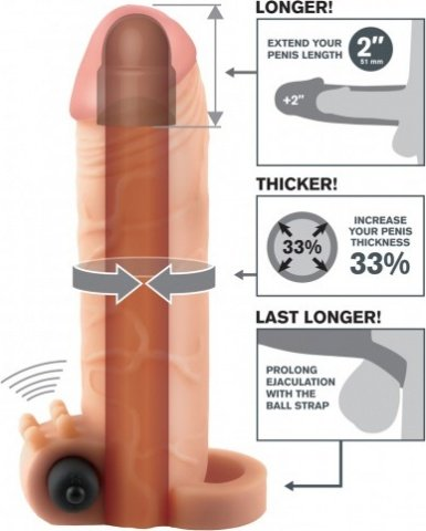 ������������ � ������� Fantasy X-tensions Vibrating Real Feel 2'' Extension �������� 16 ��, ���� 4