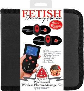 Накладки самоклеющиеся proffesional wireless elektro-massage kit для электростимуляции черные, фото 10