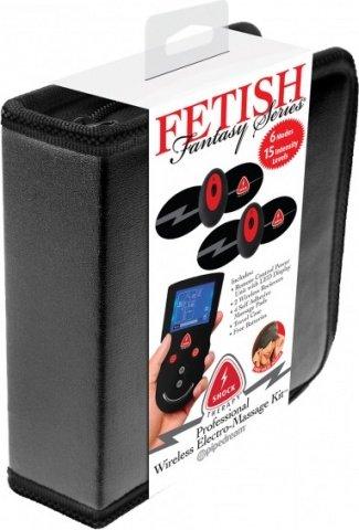 Накладки самоклеющиеся proffesional wireless elektro-massage kit для электростимуляции черные, фото 2