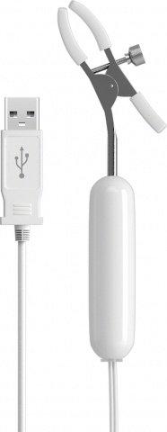 Вибромассажер клипсы для сосков, с USB зарядным устройством, фото 2