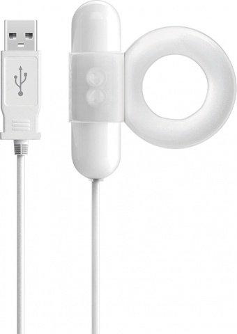 Эрекционное кольцо с вибрацией, с USB портом, фото 3
