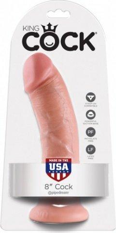 Фаллоимитатор 8 cock на присоске телесный 20 см, фото 2