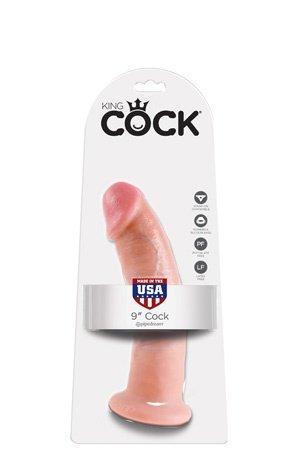 Фаллоимитатор 9 cock на присоске телесный 22 см, фото 4