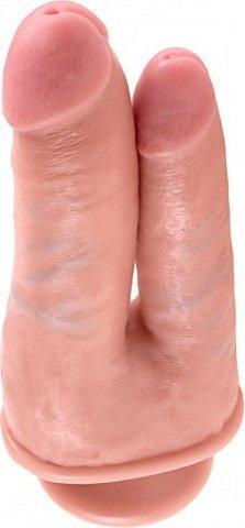 Фаллоимитатор для двойного проникновения double penetrator на присоске телесный 20 см