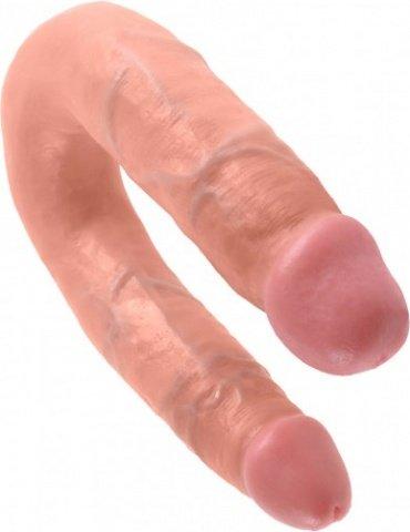 Фаллоимитатор двухсторонний u-shaped medium double trouble средний телесный 35 см
