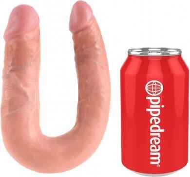 Фаллоимитатор двухсторонний u-shaped medium double trouble средний телесный 35 см, фото 2