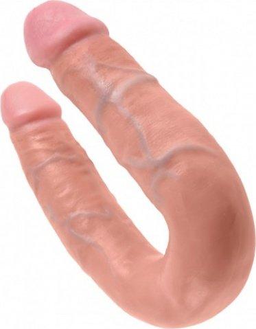 Фаллоимитатор двухсторонний u-shaped medium double trouble средний телесный 35 см, фото 4