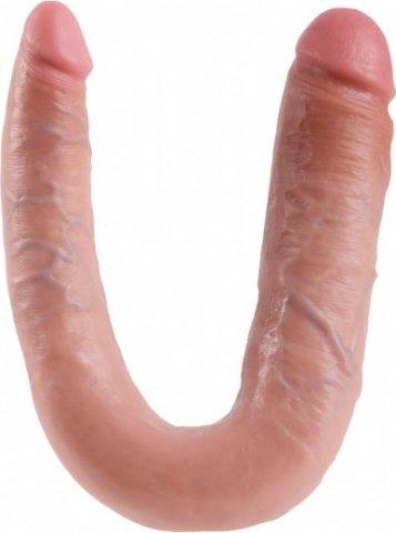 Фаллоимитатор двухсторонний u-shaped large double trouble большой телесный 17 см