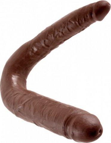 Фалоимитатор двухголовый - безременной страпон, коричневый, фото 4