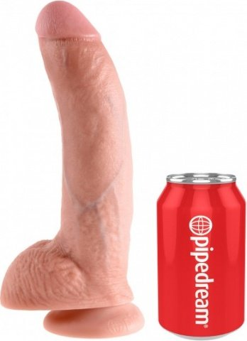 Фаллоимитатор с мошонкой 9 cock with balls на присоске телесный 22 см, фото 2