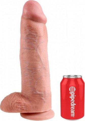 Фаллоимитатор с мошонкой 12 cock with balls на присоске телесный 30 см