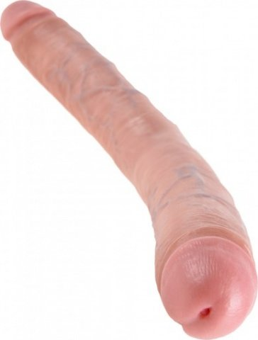 Фаллоимитатор двухсторонний 16 thick double dildo телесный 40 см