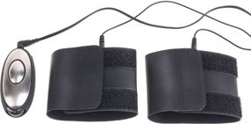 Наручники obedience kit для электростимуляции черные, фото 4