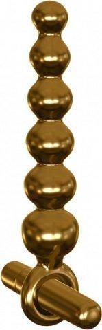 Анальный вибромассажер елочка G06 золотой 18 см