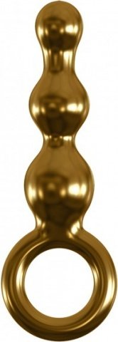 Анальный фаллоимитатор G-Spot и P-Spot G10 золотой