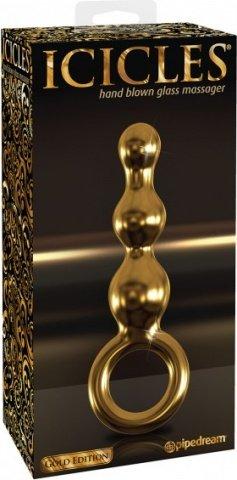 Анальный фаллоимитатор G-Spot и P-Spot G10 золотой, фото 2
