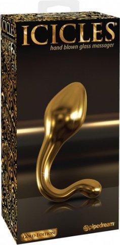 Анальный фаллоимитатор G-Spot и P-Spot G11 золотой 10 см, фото 2