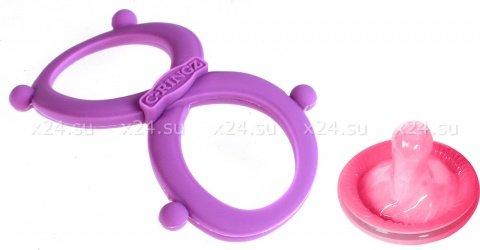 Эрекционное кольцо с фиксацией мошонки Infinity Ring