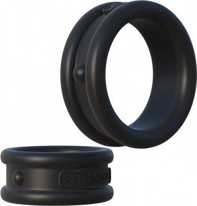 Эрекционные кольца широкие 2 шт в наборе Max-Width Silicone Rings, фото 3