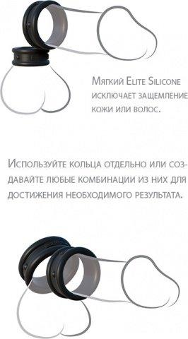 Эрекционные кольца широкие 2 шт в наборе Max-Width Silicone Rings, фото 5