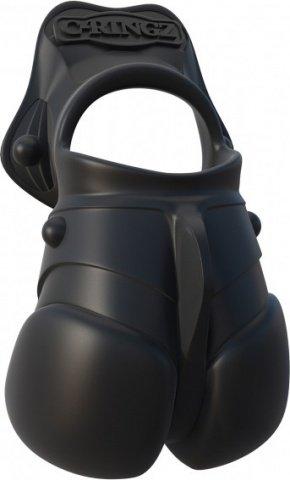 Силиконовый чехол для мошонки с эрекционным кольцом Rock Hard Ball Banger, фото 6