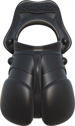 Силиконовый чехол для мошонки с эрекционным кольцом Rock Hard Ball Banger, фото 7