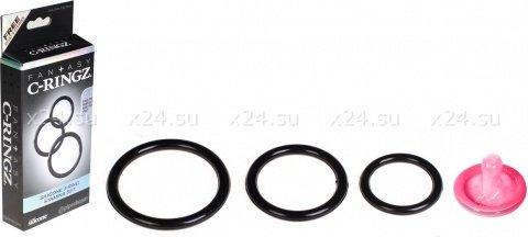 Три эрекционных кольца Silicone 3-Ring Stamina Set, фото 3
