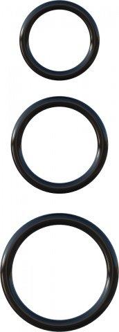 Три эрекционных кольца Silicone 3-Ring Stamina Set, фото 4
