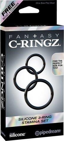 Три эрекционных кольца Silicone 3-Ring Stamina Set, фото 5