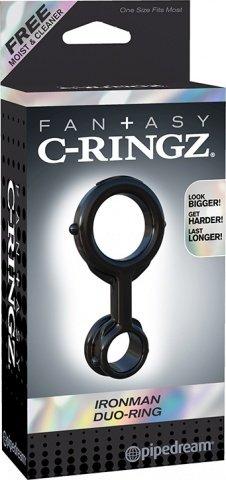 Эрекционное кольцо с фиксацией мошонки Ironman Duo-Ring, фото 4