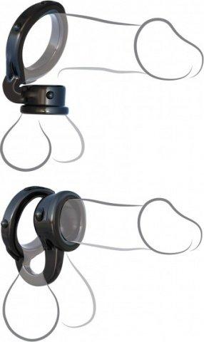 Эрекционное кольцо с фиксацией мошонки Ironman Duo-Ring
