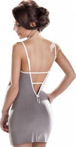 Платье Mocca, серое с белым кружевом, фото 4