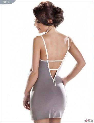 Платье Mocca, серое с белым кружевом, фото 5