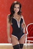 Черное боди со шнуровкой на спинке Carla Body (LXL) - Секс-шоп Мир Оргазма