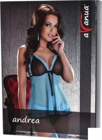 Платье Andrea, черно-голубое, фото 3