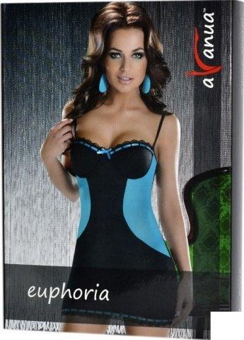Платье Euphoria, черно-голубое, фото 3