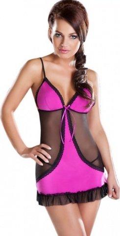 Платье Cheryl, черно-розовое