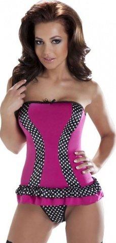 Корсет Kimi, черно-розовый