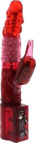 Вибратор с шариками красный 19 см, фото 2
