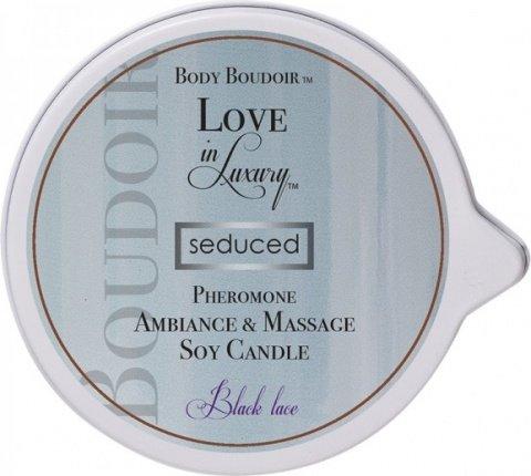 Массажная свеча с феромонами Body Boudoir черное кружево, фото 2