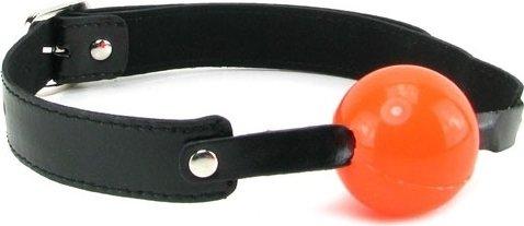Кляп в рот в виде шара Solid Ball Gag, цвет Черный