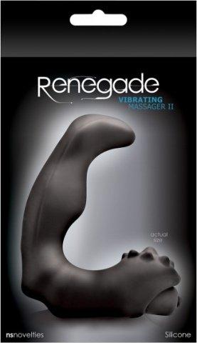 Анатомический вибро-стимулятор renegade vibrating massager большой черный, фото 2