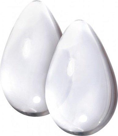 Вагинальные шарики cryst'al kegel eggs из стекла прозрачные, фото 2