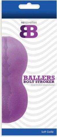 Мастурбатор ballers bolt stroker фиолетовый, фото 2